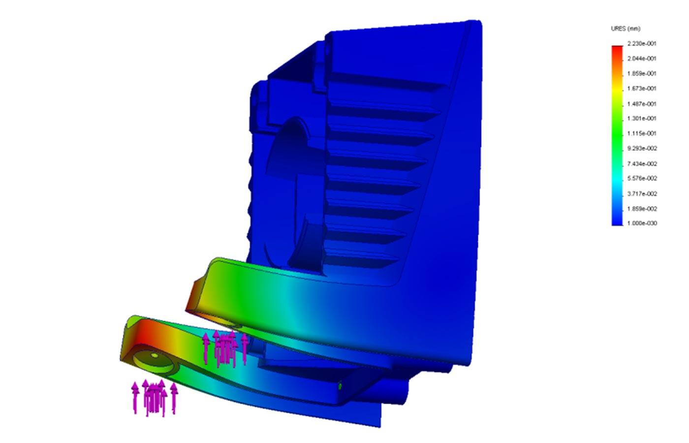 Aluminium casting design simulation FEA