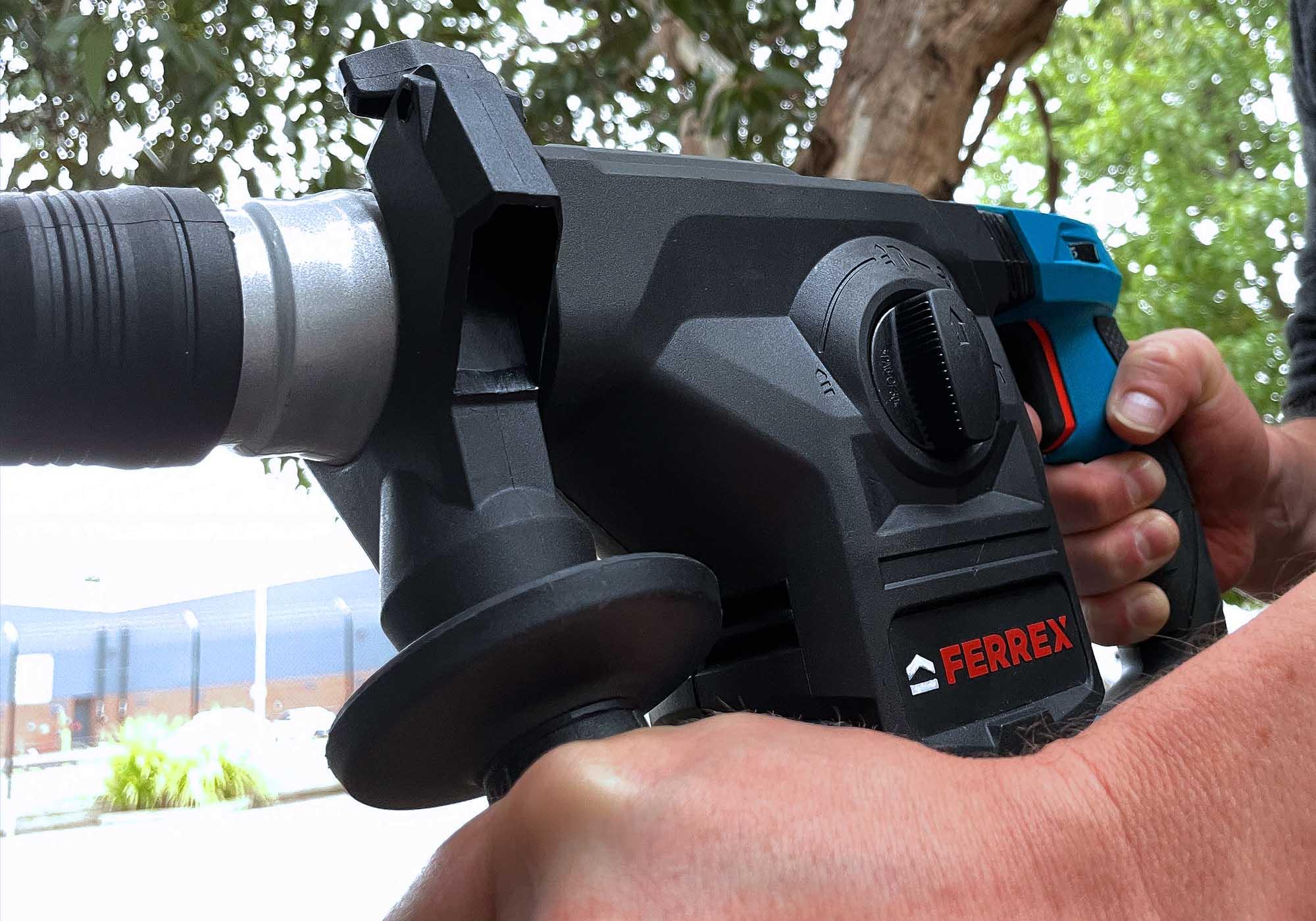 USING FERREX SDS ROTARY HAMMER DRILL 03